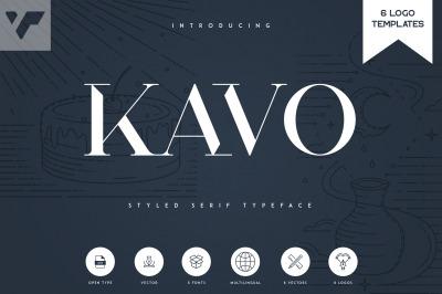 Kavo Styled Serif Typeface | 5 fonts