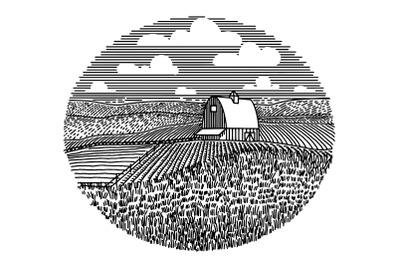 Farm Scene Icon