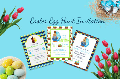 Easter Egg Hunt Invitation Set