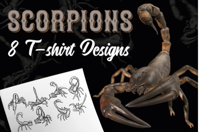 Scorpions. 8 t-shirt designs