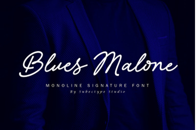 Blues Malone / Monoline Signature Font