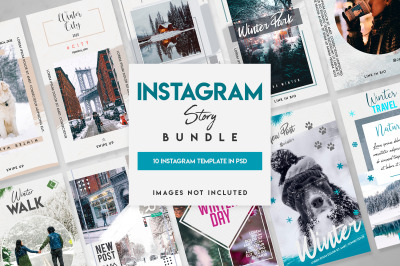 10 winter instagram stories template