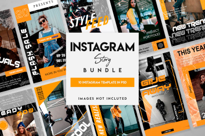 10 instagram template set