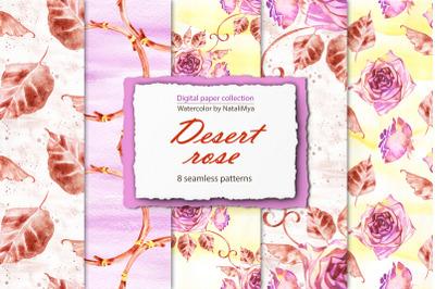 Desert rose - boho paper pack