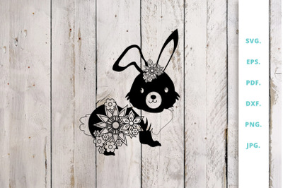 Floral Easter Bunny Cut File 2