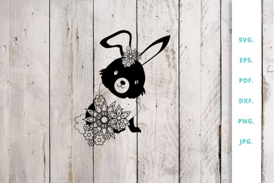 Floral Easter Bunny Cut File 3