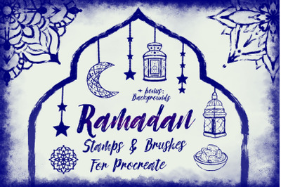 Procreate Ramadan style Stamps and Brushes.