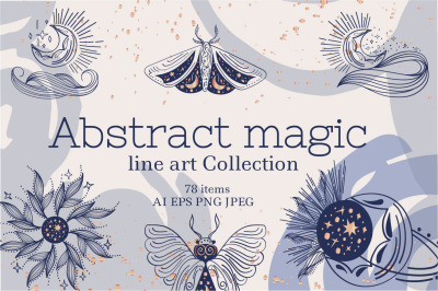 Abstract magic line art Collection