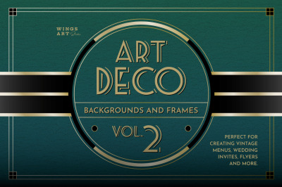 Art Deco Menu Templates Vol 2