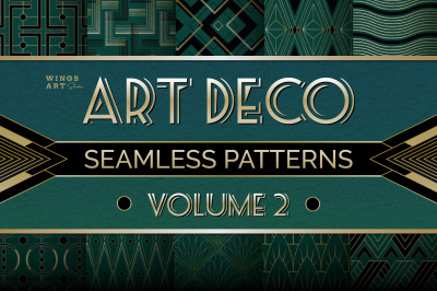 Art Deco Seamless Patterns Volume 2