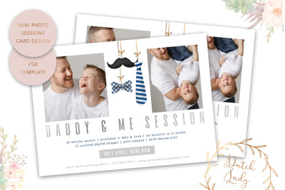 PSD Photo Session Card Template #66