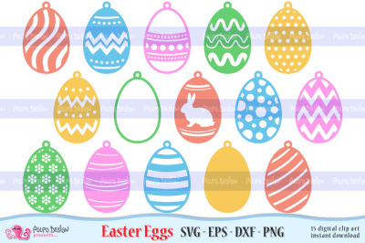 Easter Egg SVG, Eps, Dxf, Png. Hanging Docor.