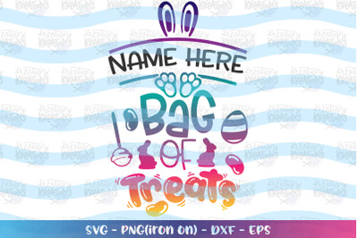 Easter svg Bag of Treats svg Candy Eggs Jelly beans chocolate