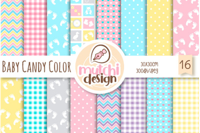 Baby Candy Colors  Digital Papers