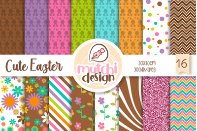 Cute easter Digital Papers
