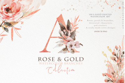 Rose Gold arrangements
