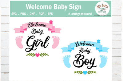 Welcome Baby girl and baby boy announcement,Pregnancy announcement SVG