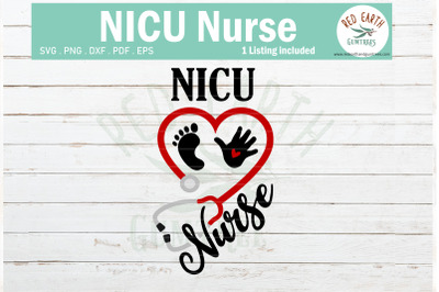 Nicu nurse heart stethoscope svg, baby hand feet SVG,PNG,DXF