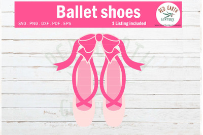 Ballerina shoes with bow, ballet slippers with bow SVG,PNG