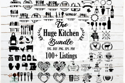 HUGE Kitchen bundle SVG, Cook bake wine farm coffee bundle