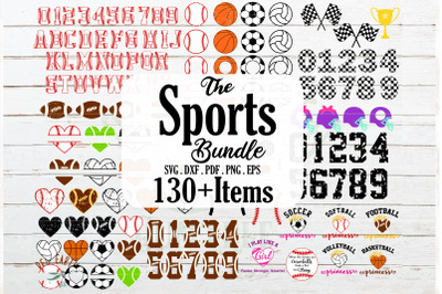 HUGE Sports ball bundle SVG, all monogram frames, baseball