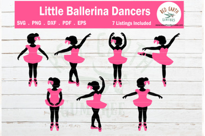 Girl ballerina dancers SVG bundle, Baby ballet poses SVG