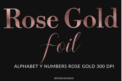 Rose gold, letters, alphabet, numbers,