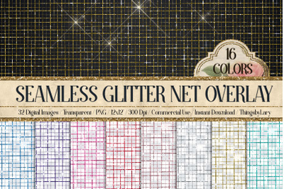 32 Seamless Glitter Scratch Net Transparent Overlay Images