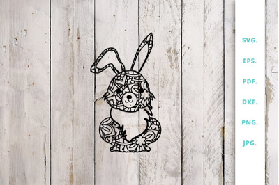 Cute Bunny out of Mandala 1