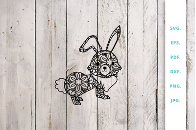 Cute Bunny out of Mandala 2