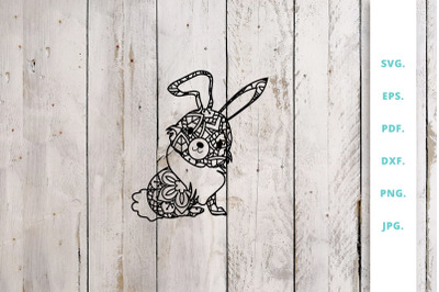 Cute Bunny out of Mandala 3