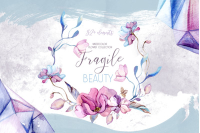 Watercolor collection Fragile Beauty