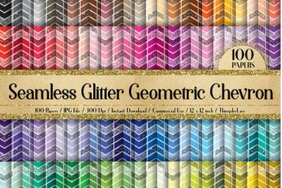 100 Seamless Glitter Geometric Chevron Boho Digital Papers