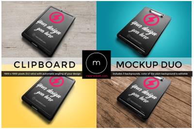 Angled Storage Clipboard | Mock Up