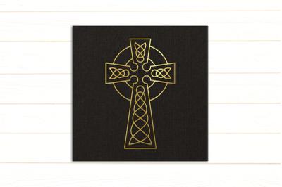 Celtic Cross Single Line Sketch for Pens |  | SVG | PNG | DXF | EPS