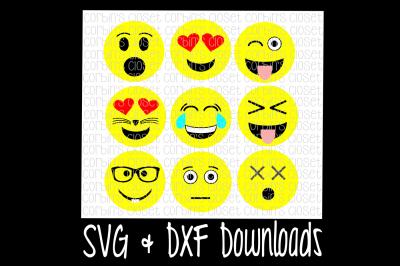 Emoji Faces * Mix and Match Cutting File