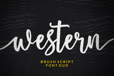 Western Font Duo