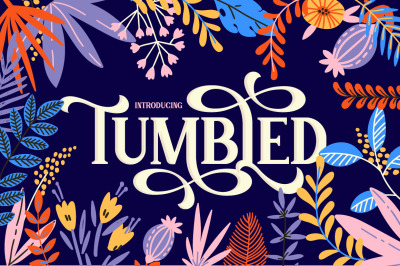 Tumbled Serif Font (Swirly Font, Serif Font, Stylish Font)