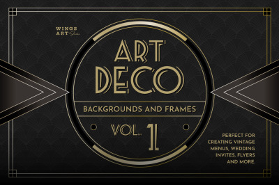 Art Deco Menu Templates Vol 1