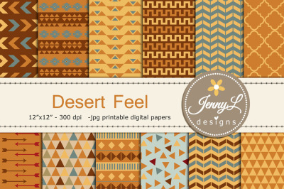 Desert Tribal Digital Papers