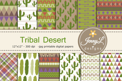Tribal Desert Digital Papers