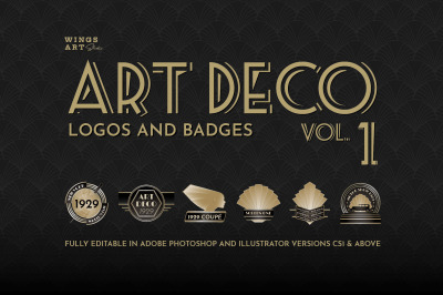 Art Deco Logos and Badges Vol 1