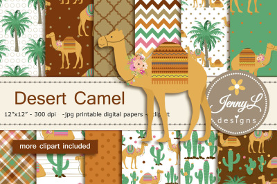 Camel Digital Papers and Clipart