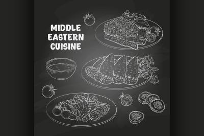 Middle Eastern cuisine, arabian dishes b1