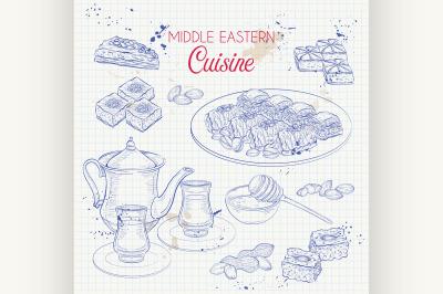 Arabic Food. Traditional eastern cuisine. 4