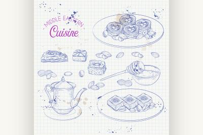 Arabic Food. Traditional eastern cuisine. 5