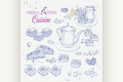 Arabic Food. Traditional eastern cuisine. 6
