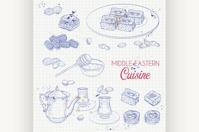 Arabic Food. Traditional eastern cuisine. 7