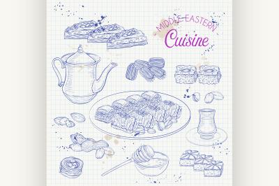 Arabic Food. Traditional eastern cuisine. 2