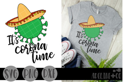 It's corona time, SVG, PNG, DXF